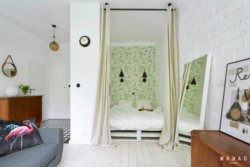 Sypialnia W Małej Kawalerce Zdjęcie W Serwisie Lovingitpl