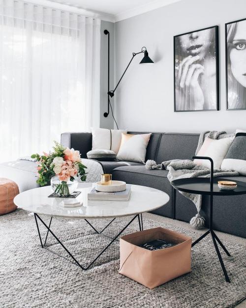 Funkcjonalnie i romantycznie zaaranżowane mieszkanie w stylu skandynawskim, czyli wnętrza tygodnia z instagramu :)
