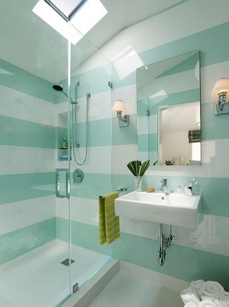 Biało Turkusowa łazienka Zdjęcie W Serwisie Lovingitpl
