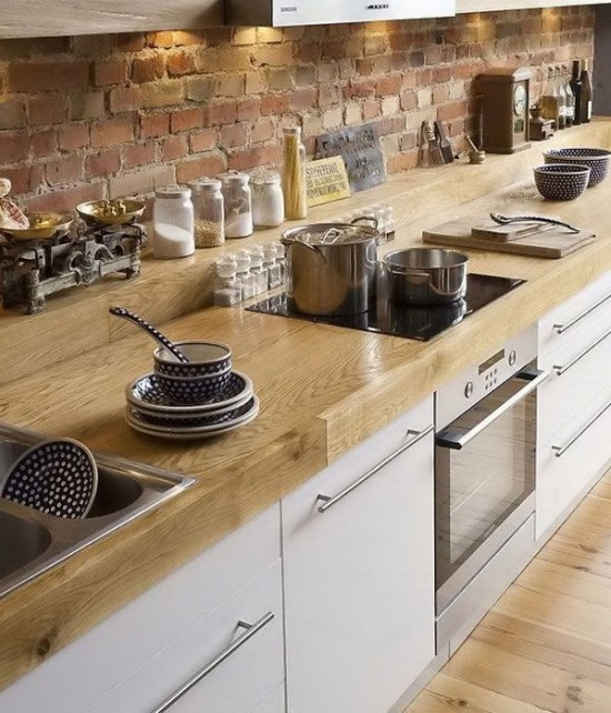 Drewniany Blat W Kuchni Zdjęcie W Serwisie Lovingitpl 38471