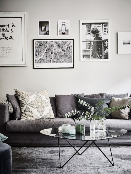 Pomysły na przytulne szare wnętrza, czyli wskazówki, jak sprawić, żeby mieszkanie w chłodnej palecie barw było pełne ciepła :)