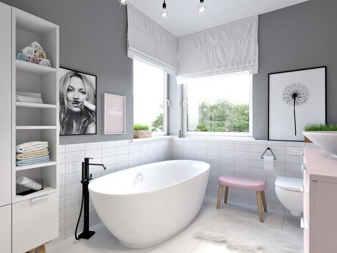 Pastelowa łazienka dla mamy i córki, czyli nasz projekt by me & my mum :)