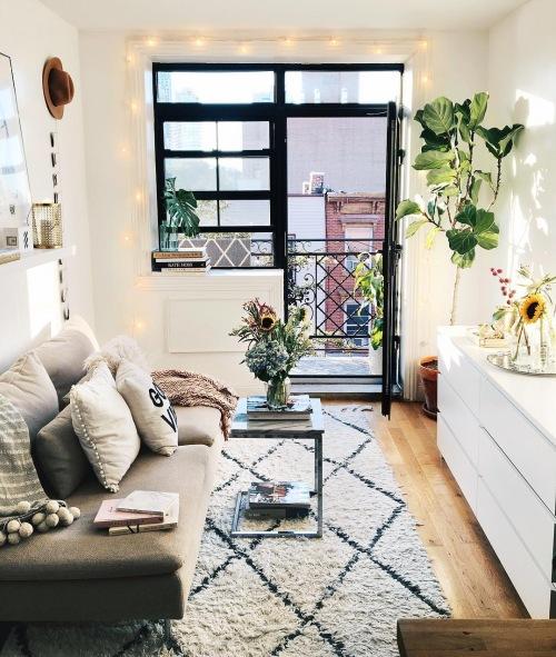 Wnętrza tygodnia z instagramu, czyli z wizytą w inspirującym i małym mieszkaniu blogerki :)