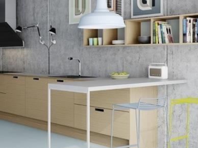 Tag Beton Dekoracyjny Na ścianie W Skandynawskiej Kuchni