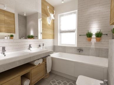Tag Aranżacja łazienki W Drewnie I Bieli