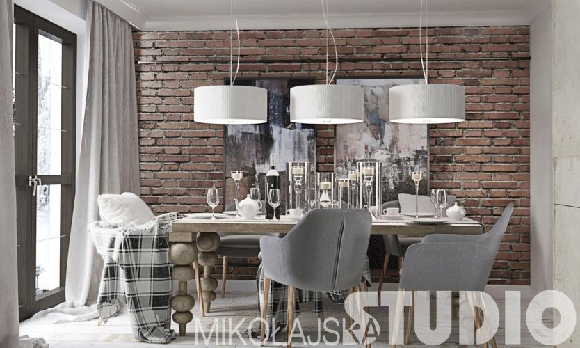 Niezwykle efektowny i elegancki dom zaaranżowany w stylu vintage według polskiego projektu