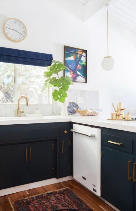Biało Granatowa Kuchnia Zdjęcie W Serwisie Lovingitpl 43415