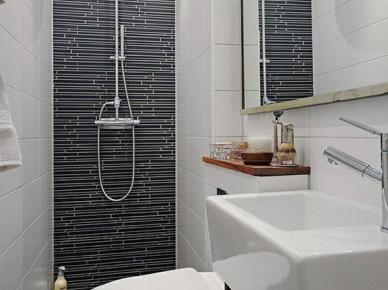 bia o czarna glazura w drobne wzory na scianie zdj cie w. Black Bedroom Furniture Sets. Home Design Ideas