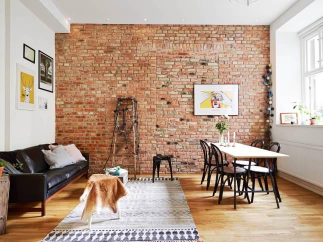 Ciana z postarzanej czerwonej ceg y w otwartym zdj cie - Impermeabilizar paredes interiores ...