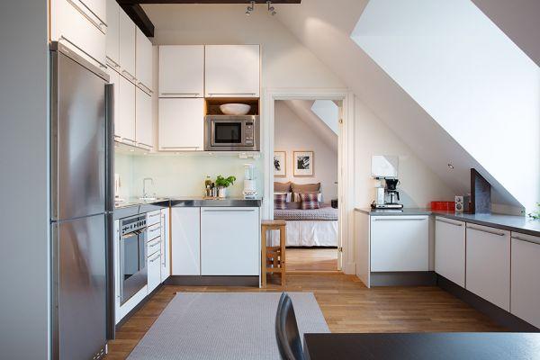 Jak urządzić kuchnię na poddaszu ?  zdjęcie w serwisie   -> Kuchnia Na Poddaszu Wymiary