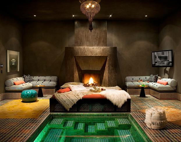 Aranżacja Sypialni W Marokańskim Stylusypialnia Zdjęcie W