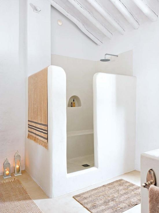 oryginalna kabina prysznicowa z murku w azience zdj cie w serwisie 51307. Black Bedroom Furniture Sets. Home Design Ideas