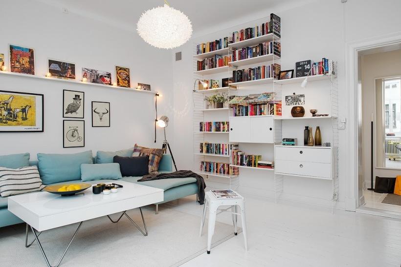 nowoczesny regal wisz cy z p lkami i szafkami zdj cie w serwisie 25895. Black Bedroom Furniture Sets. Home Design Ideas