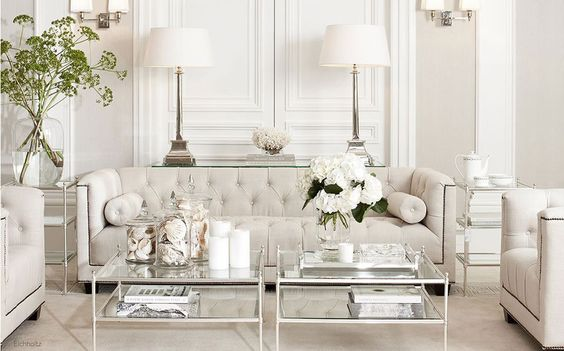 Aran acja bia ego salonu w nowojorskim stylu zdj cie w for Hem arredamento