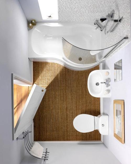 Projekt Małej łazienki Z Profilowaną Wanną Zdjęcie W