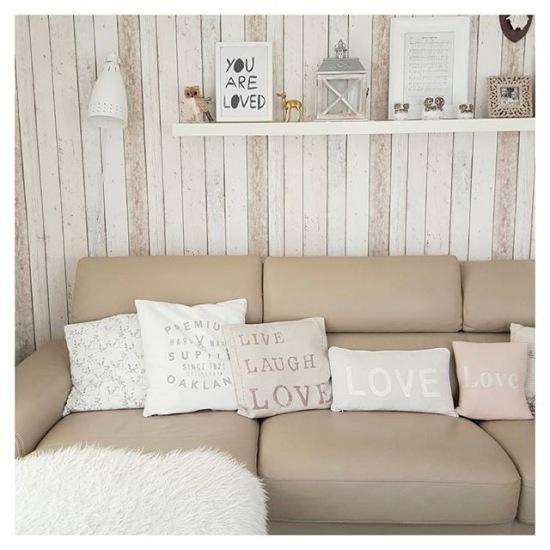 dekoracyjna ciana z drewna w salonie zdj cie w serwisie 49505. Black Bedroom Furniture Sets. Home Design Ideas