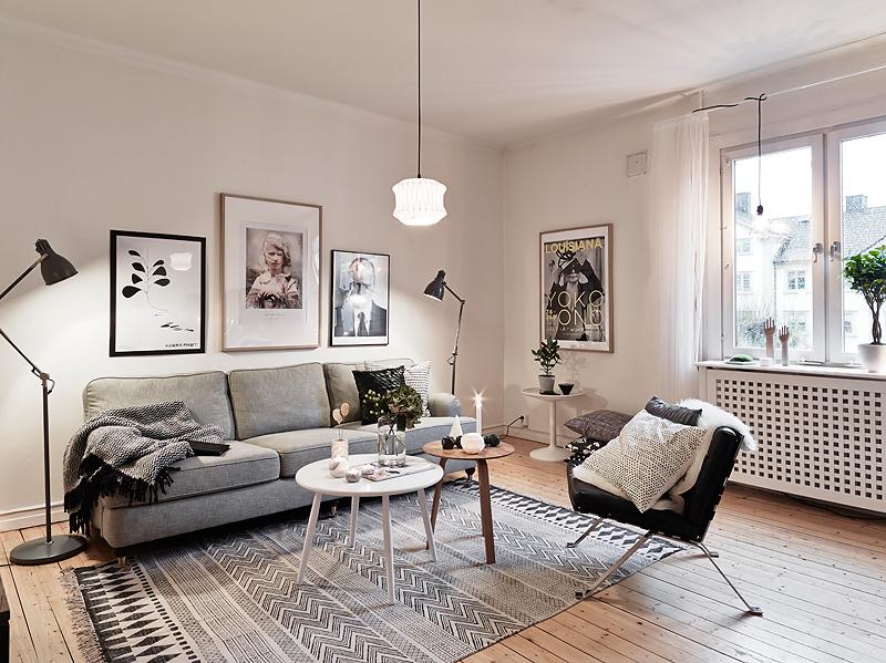 Aran acja salonu w stylu skandynawskim skandynawski - Cosy home deko ...