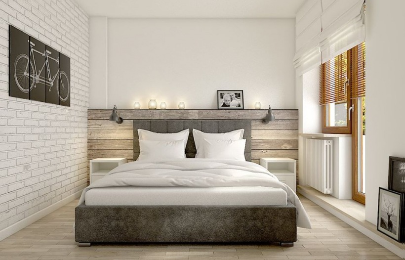 Aran acja eklektycznej sypialni z drewnem zdj cie w for Modelo de dormitorio 2016