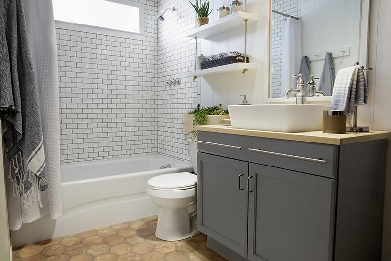 Aranżacja łazienki W Stylu Skandynawskim Z Zdjęcie W