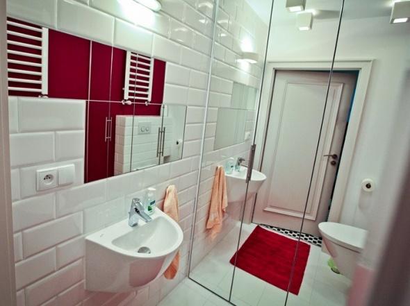 Białe Kafle W Aranżacji łazienki Zdjęcie W Serwisie