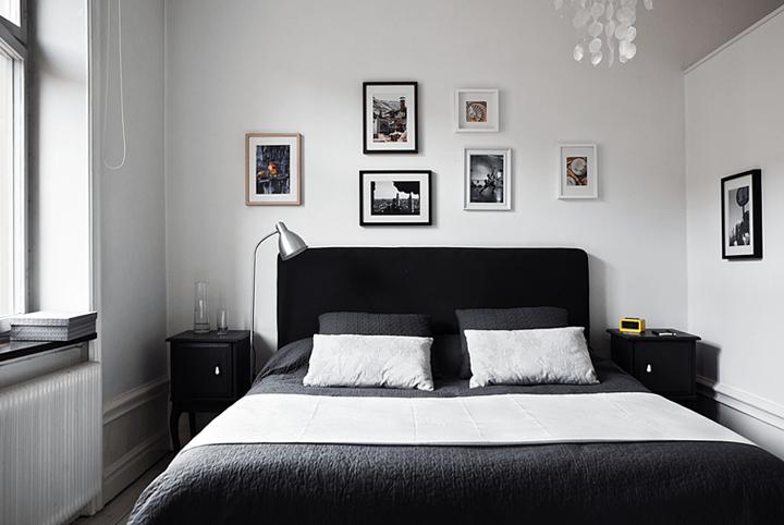 Czarna dekoracja ka w bia ej sypialni zdj cie w serwisie 21085 - Kamer wit design ...