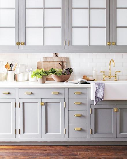 Aranżacja kuchni w szaro niebieskim kolorze  zdjęcie w   -> Kuchnia W Kolorze Niebieskim