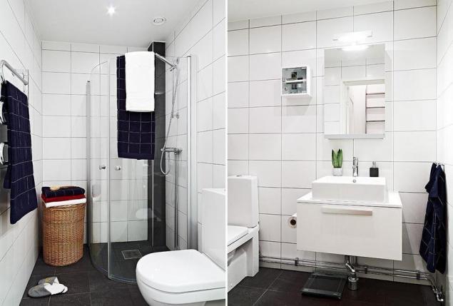 Pomysł na małą łazienkę w białym kolorze - zdjęcie w serwisie Lovingit.pl (19794)