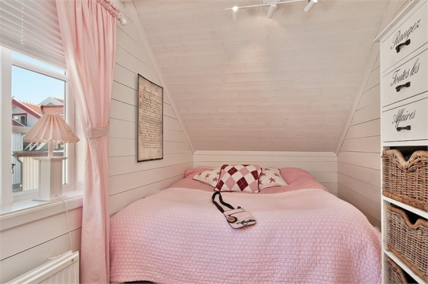 Romantyczna Biało Różowa Sypialnia Zdjęcie W Serwisie