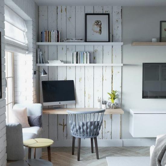 ciana z drewna w domowym gabinecie zaaran owanym zdj cie w serwisie 51330. Black Bedroom Furniture Sets. Home Design Ideas