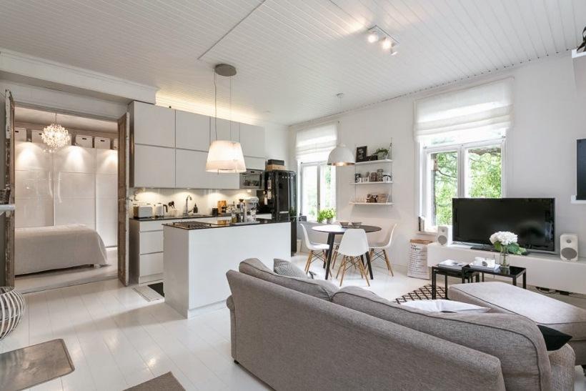 Salon po czony z kuchni w otwartej zabudowie zdj cie w - Vorrei ristrutturare casa ...