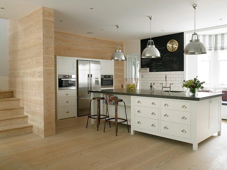 ciana z tablicow farb w bia ej kuchni zdj cie w serwisie 19523. Black Bedroom Furniture Sets. Home Design Ideas