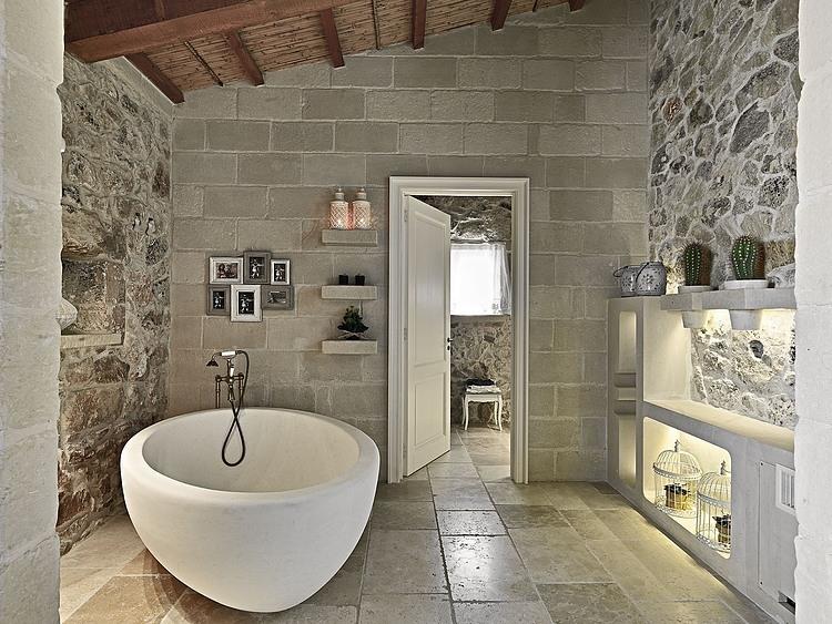 Aranżacja Hotelowej łazienki W Kamieniu Zdjęcie W Serwisie