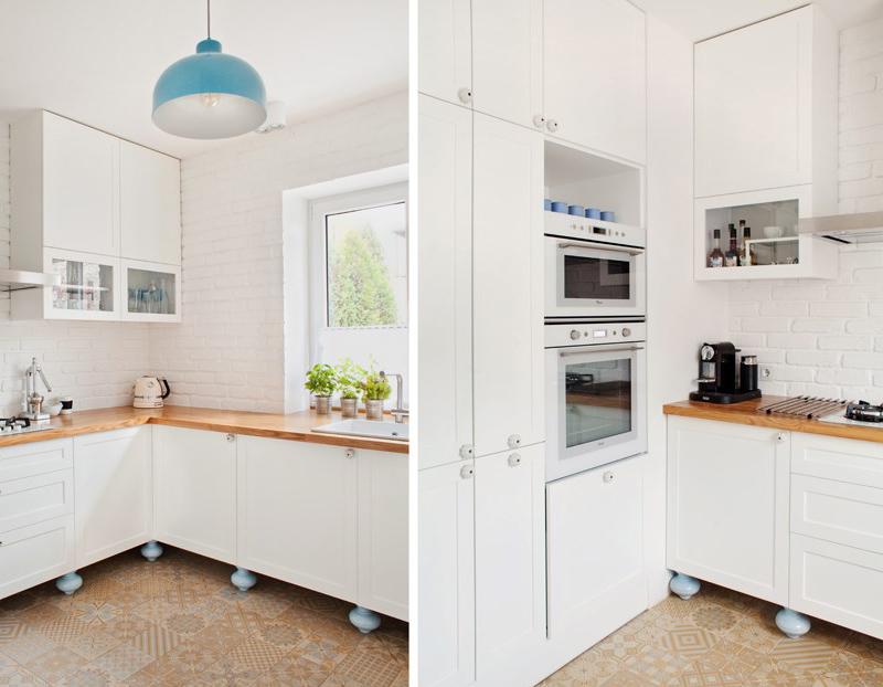 Biała kuchnia z błękitnymi dodatkami  zdjęcie w serwisie Lovingit pl (48823)
