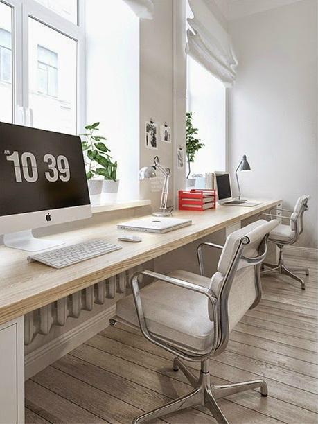 pomys na podw jne d ugie biurko umocowane zdj cie w serwisie 26304. Black Bedroom Furniture Sets. Home Design Ideas