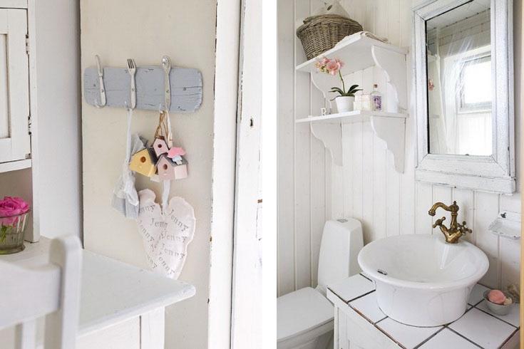Biała łazienka W Stylu Shabby Chic Zdjęcie W Serwisie