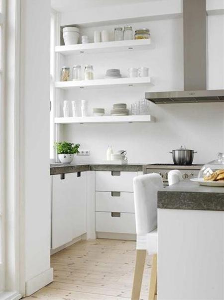Biała kuchnia,aranżacja białej kuchni,skandynawska  zdjęcie w serwisie Lovin