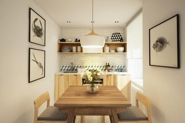 Meble Kuchenne Z Naturalnego Drewnabiała Zdjęcie W