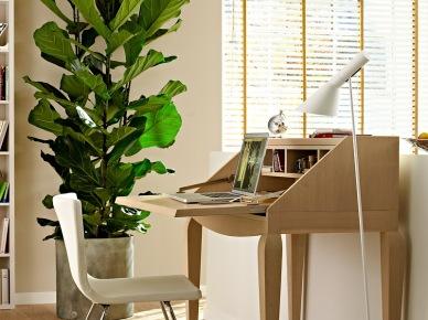 pi kna aran acja salonu z bia ceg i zielonymi zdj cie w serwisie 21113. Black Bedroom Furniture Sets. Home Design Ideas