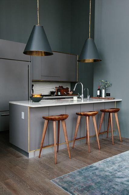 nowoczesna szara kuchnia z czanymi duzymi zdj cie w serwisie 25287. Black Bedroom Furniture Sets. Home Design Ideas