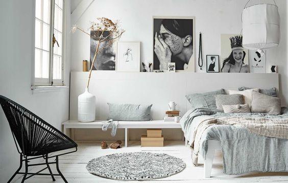 Przestronna sypialnia w skandynawskim stylu zdj cie w for Nordic style arredamento
