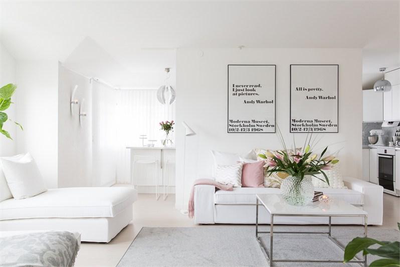 Biały Salon Skandynawskiplakaty Andy Warholapudrowe