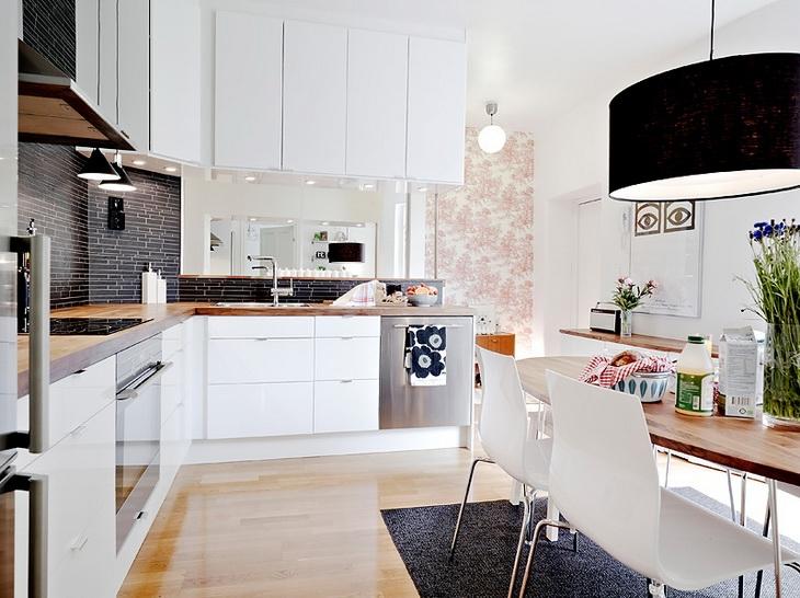 Jakie płytki do białej kuchni?  zdjęcie w serwisie   -> Waniliowa Kuchnia Jakie Plytki