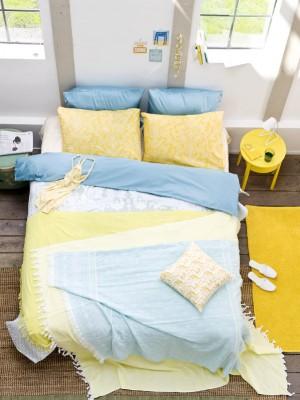 Niebiesko żółta Sypialnia Zdjęcie W Serwisie Lovingitpl