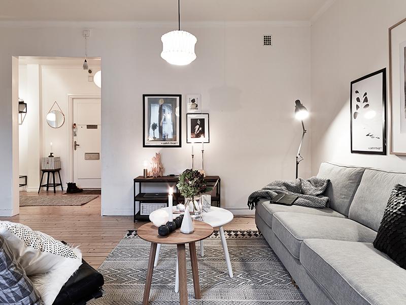 aran acja salonu w szaro czarnych i be owych zdj cie w serwisie 35769. Black Bedroom Furniture Sets. Home Design Ideas