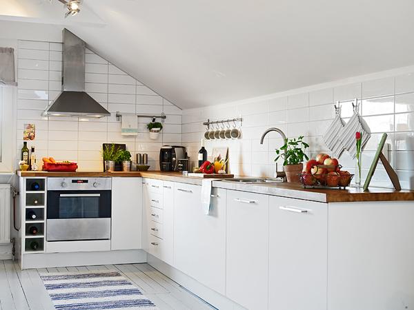 Jak urządzić biała kuchnię na poddaszu ?  zdjęcie w   # Kuchnia Na Poddaszu Inspiracje