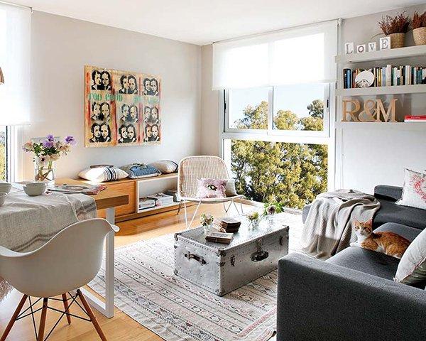 bia o szary salon grafitowa sofa zabudowa zdj cie w serwisie 34466. Black Bedroom Furniture Sets. Home Design Ideas