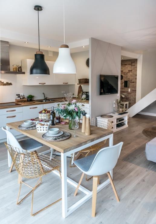 Jak wyremontowa salon oraz kuchni z jadalni z for Decoration maison instagram