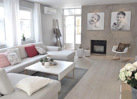 szary salon z kominkiem zdj cie w serwisie 50655. Black Bedroom Furniture Sets. Home Design Ideas