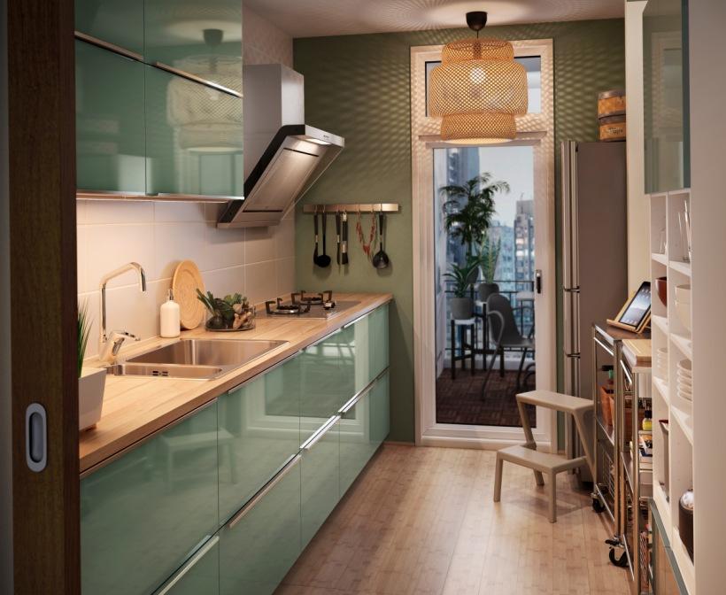 Zielona nowowczesna kuchnia IKEA  zdjęcie w serwisie   -> Kuchnia Ikea Zielona