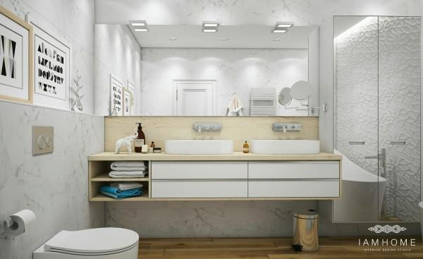 Lustrzane ściany I Szafki W łazience Strukturalne